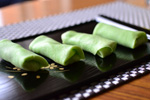 Kuih Dadar / Ketayap (Pandan Crepe Rolls with Caramelised Coconut Filling) Recipe