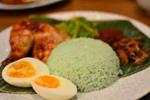Pandan Nasi Lemak with Pandan Roast Chicken Recipe
