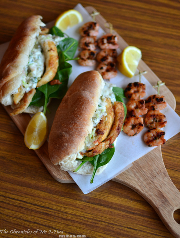 jamie oliver inspired fish burgers with a side of grilled prawn skewers recipe ms i hua the boy. Black Bedroom Furniture Sets. Home Design Ideas