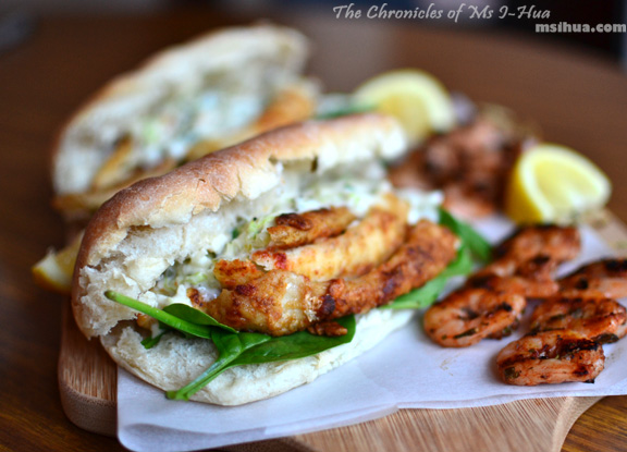 Jamie Oliver Inspired Fish Burgers With A Side Of Grilled Prawn Skewers Recipe Ms I Hua The Boy