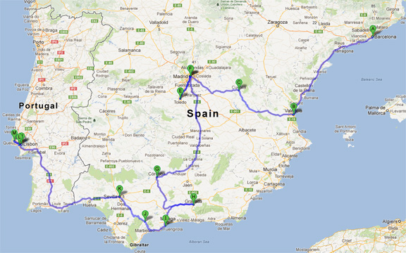Ms IHua The Boys Spanish Tales Part Madrid Ms IHua - Portugal map distances