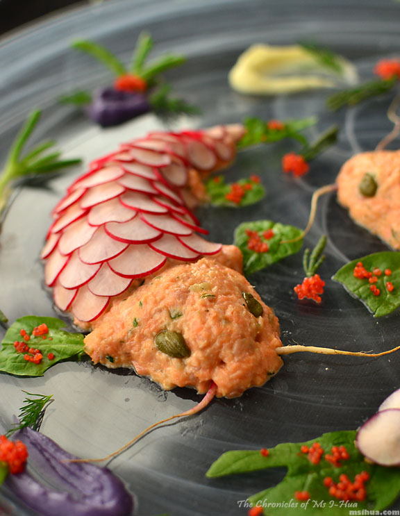 Retro Party Recipe: Twin Koi Fish Shaped Salmon Rillettes by I-Hua Lim ...