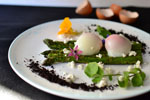 Sous Vide Poached Eggs with Grilled Asparagus Recipe