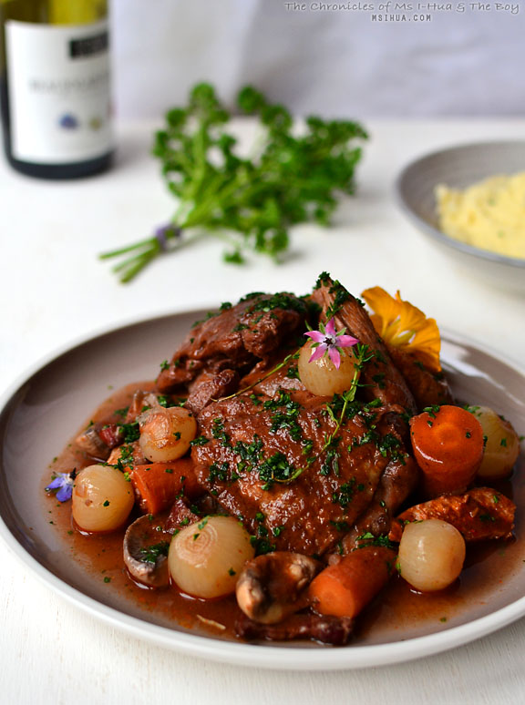 Slow Cooked Coq Au Vin Recipe A French Favourite Ms I Hua The Boy
