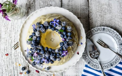 Blueberry Yoghurt Cake with Cream Cheese Frosting Recipe