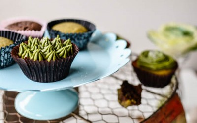 Matcha Dark Chocolate Cupcakes for RSPCA Cupcake Day!