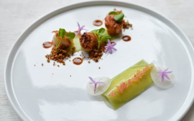 Playground: Scallops, Spanner Crab & Cucumber Wrapper