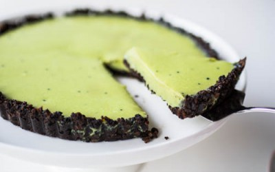 No-Bake Matcha (Green Tea) & Oreo Tart Recipe