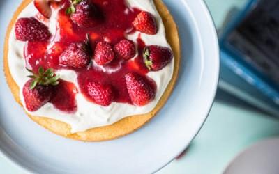 Victoria Sponge Cake & Homemade Strawberry Jam Recipe
