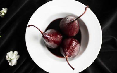 Spiced Red Wine Poached Pears Recipe